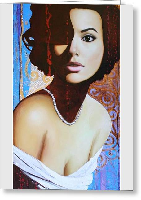 Eva Longoria Greeting Card by Spartak Sharipov