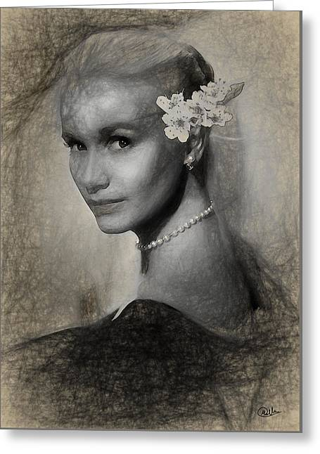 Eva Marie Saint Greeting Card by Quim Abella