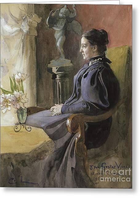 Eva Upmark, 1896  Greeting Card