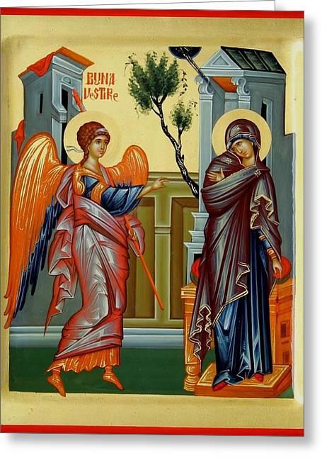 Evanghelismos Greeting Card by Daniel Neculae