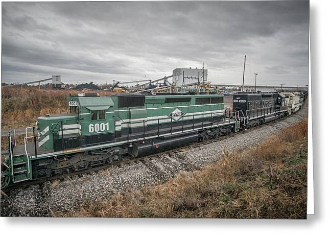 Evansville Western Railway At Warrior Coal With 6001 Nebo Ky Greeting Card