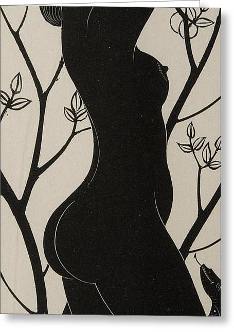 Eve Greeting Card by Eric Gill