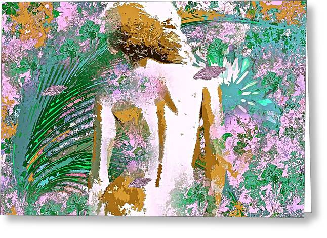 Eve In Paradise Greeting Card