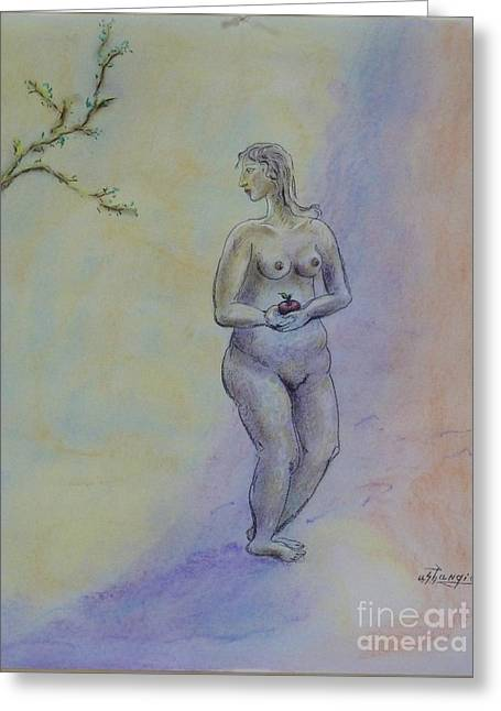Eve Greeting Card by Ushangi Kumelashvili