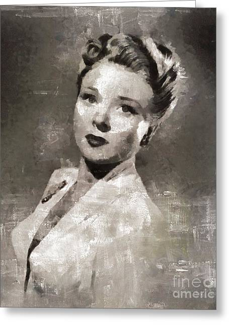 Evelyn Ankers, Actress Greeting Card