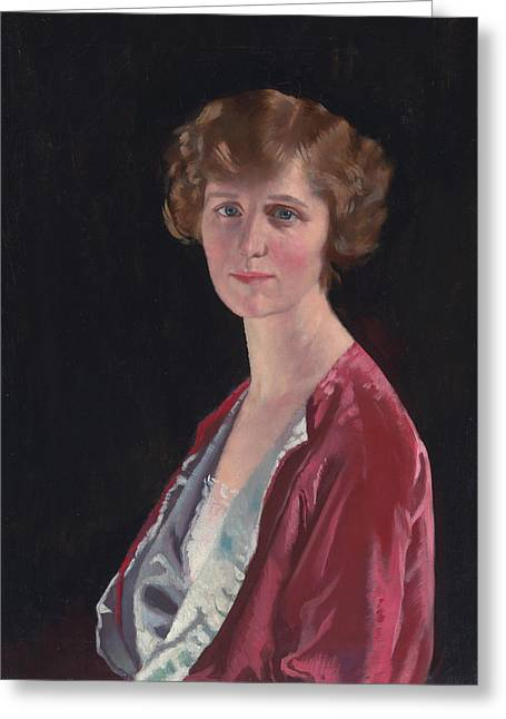 Evelyn Marshall Field Greeting Card by William Orpen