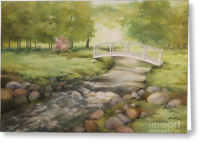 Evelyn's Creek Greeting Card by Becky West