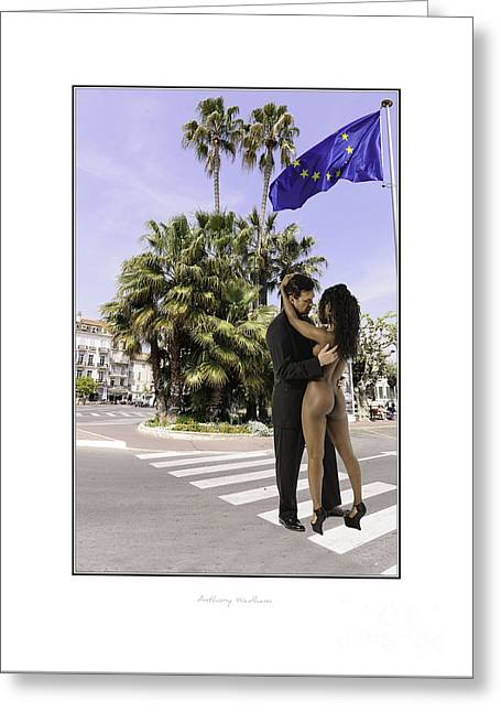 Even The French Traffic Stopped. Greeting Card