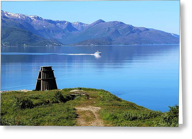 Evenes, Fjord In The North Of Norway Greeting Card