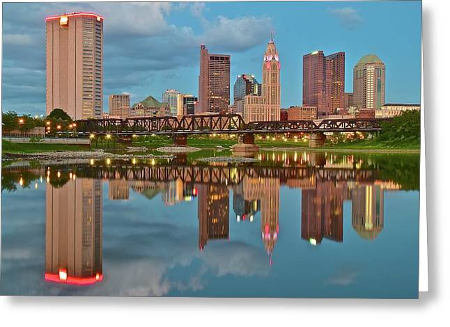 Evening Approaches In Columbus Greeting Card