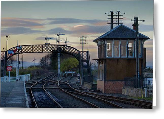 Greeting Card featuring the photograph Evening At Bo'ness Station by RKAB Works