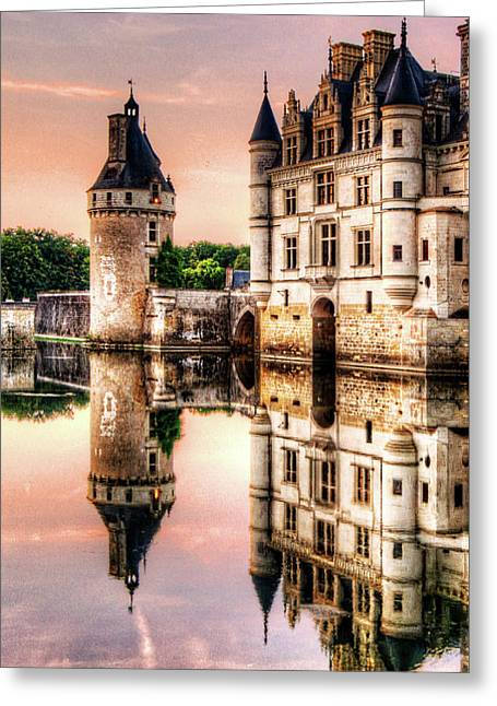 Evening At Chenonceau Castle Greeting Card