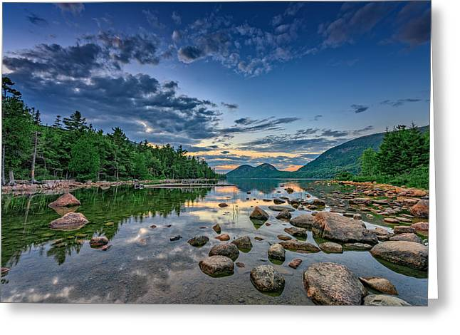 Evening At Jordan Pond Greeting Card by Rick Berk