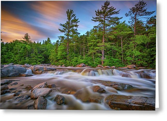 Greeting Card featuring the photograph Evening At Lower Falls by Rick Berk