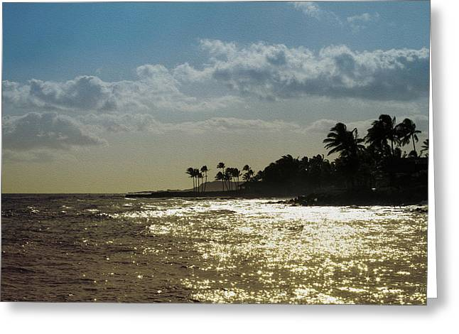 Evening At Poipiu Kauai Greeting Card