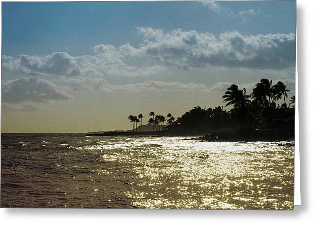 Evening At Poipiu Kauai Greeting Card
