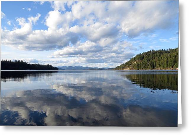 Evening At Priest Lake 1 Greeting Card by Feva  Fotos