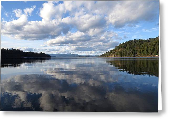 Evening At Priest Lake 2 Greeting Card by Feva  Fotos