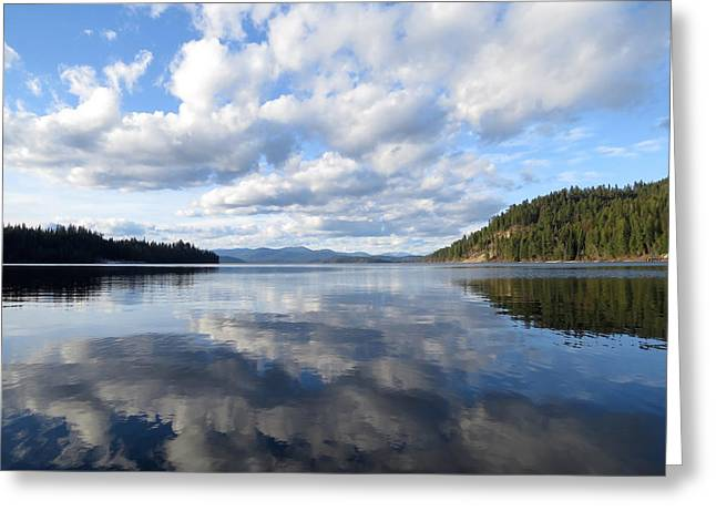 Evening At Priest Lake Greeting Card by Feva  Fotos