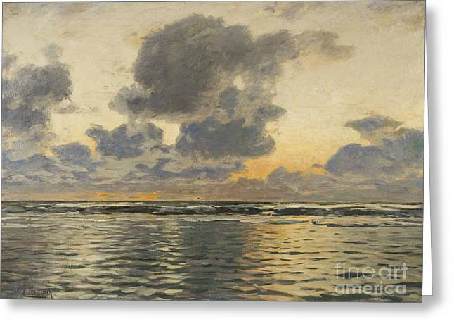 Evening At The Baltic Sea Greeting Card