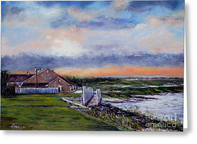 Evening At The Bay Greeting Card by Joyce A Guariglia