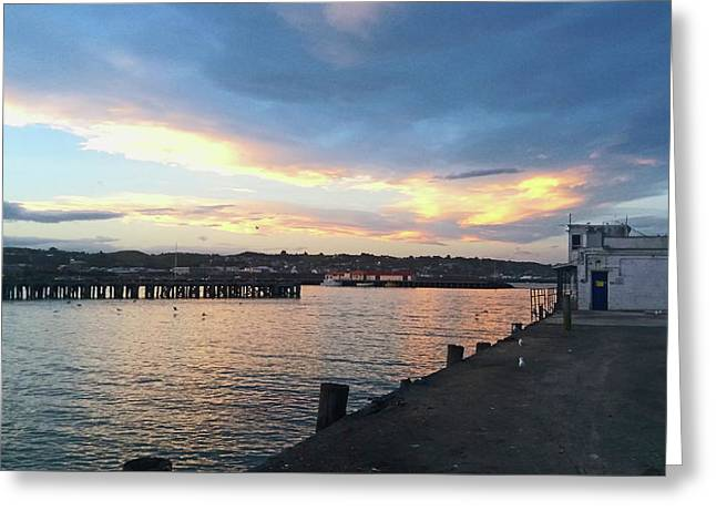 Greeting Card featuring the photograph Evening At The Bay by Nareeta Martin