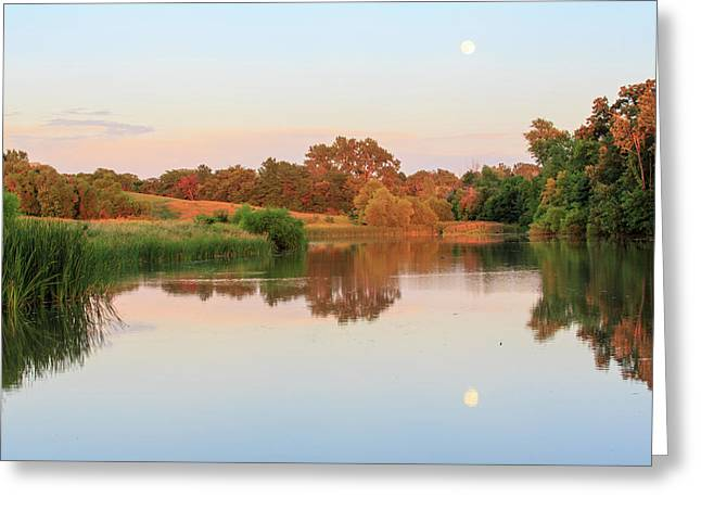 Evening At The Lake Greeting Card