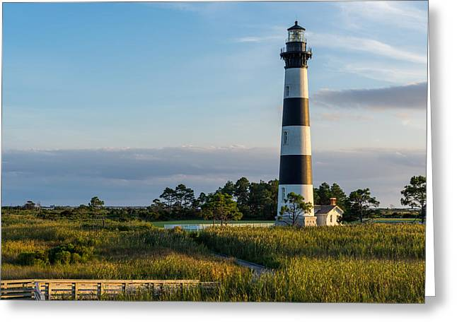 Evening At The Lighthouse Greeting Card