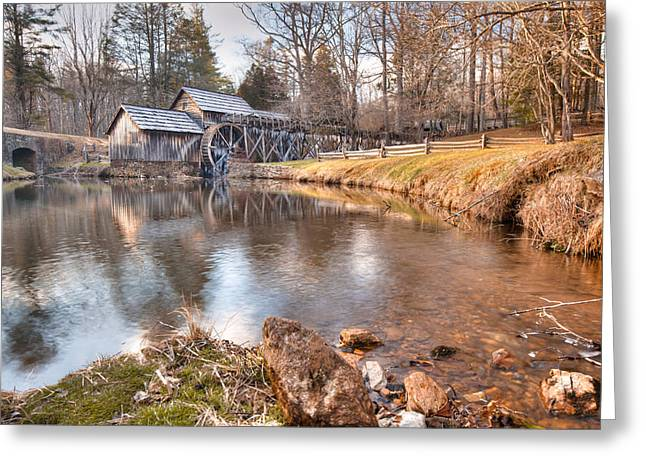 Evening At The Mabry Mill Greeting Card by Gregory Ballos