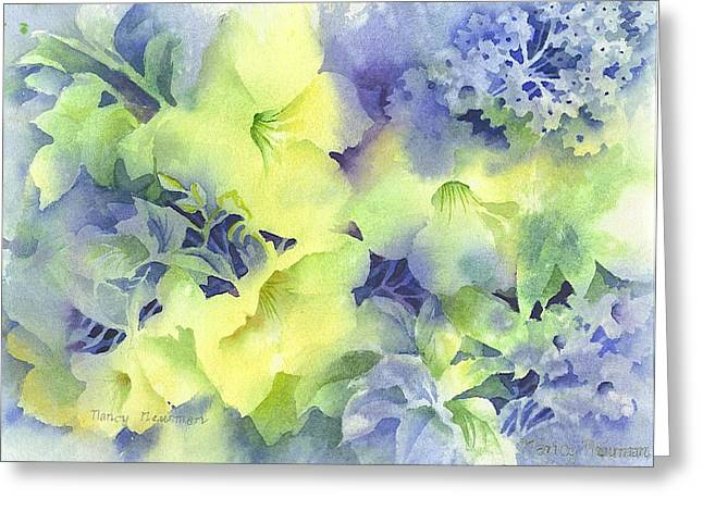 Evening-blooms Greeting Card by Nancy Newman