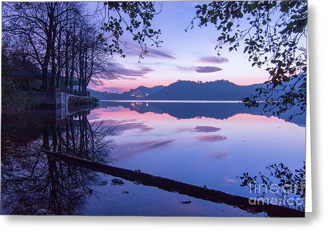 Evening By The Lake Greeting Card