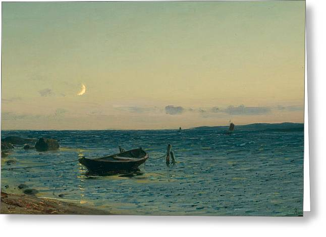 Evening By The Sea Greeting Card