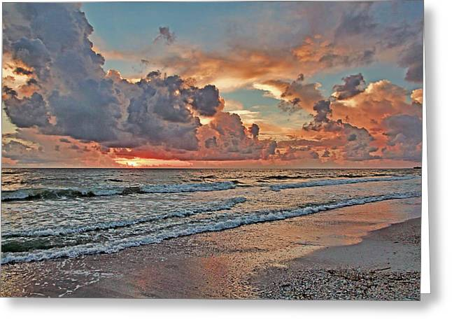 Evening Clouds Greeting Card by HH Photography of Florida