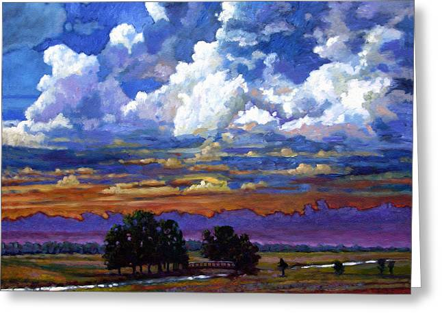 Evening Clouds Over The Prairie Greeting Card