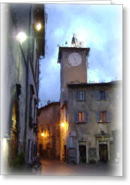 Evening Comes To Italy Greeting Card by Lynn Andrews
