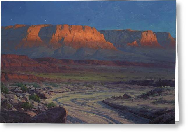 Evening Comes To Marble Canyon Greeting Card