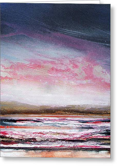 Evening Druridge Bay Northumberland Greeting Card by Mike   Bell