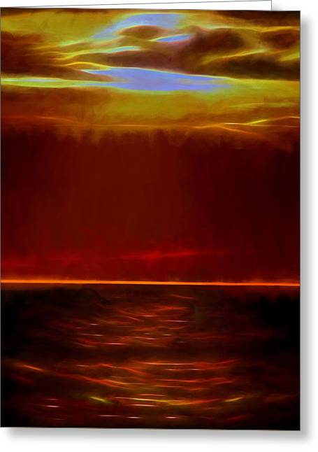 Evening Fire Greeting Card by Dan Sproul