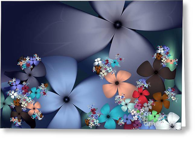 Evening Flowers Greeting Card by Ganesh Barad