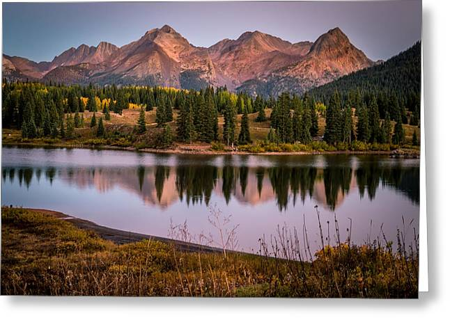Evening Glow At Molas Lake Greeting Card by Michael J Bauer