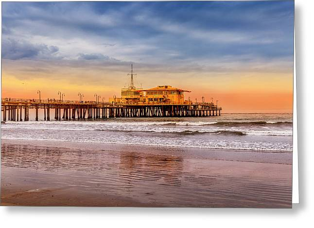 Evening Glow At The Pier Greeting Card