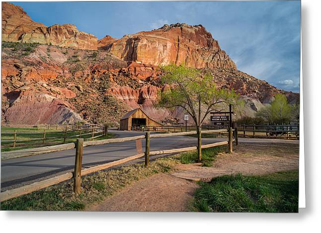 Evening Glow Capitol Reef Greeting Card by Michael J Bauer