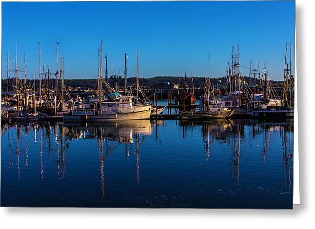 Evening Harbor Greeting Card by Garry Gay