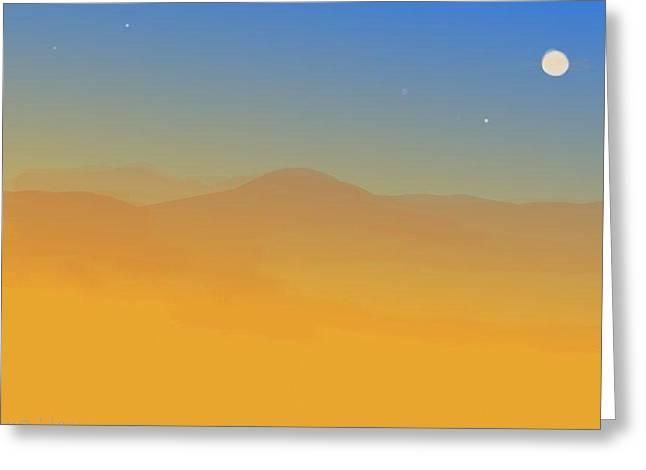 Evening Haze Greeting Card by Margot Paisley