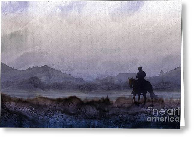 Evening Horseback Ride Greeting Card