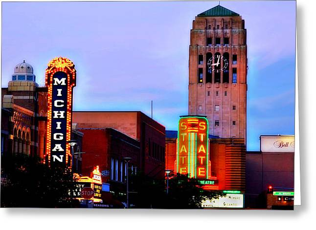 Evening In Ann Arbor Greeting Card by Pat Cook
