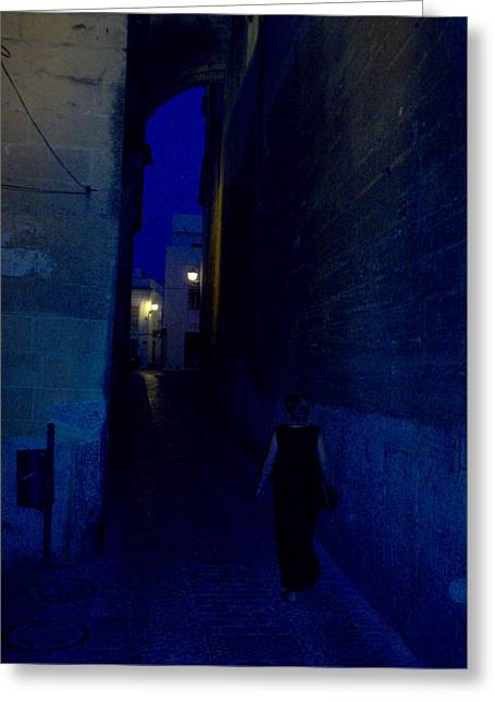 Evening In Arcos Spain Greeting Card