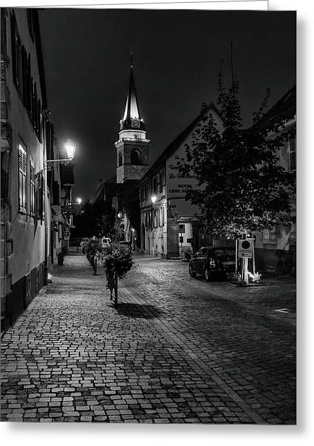 Evening In Bergheim Greeting Card