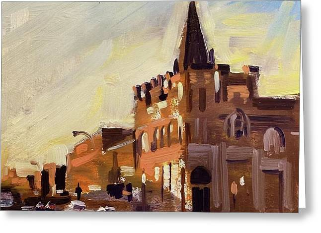 Evening In Fairfield Greeting Card by Spencer Meagher