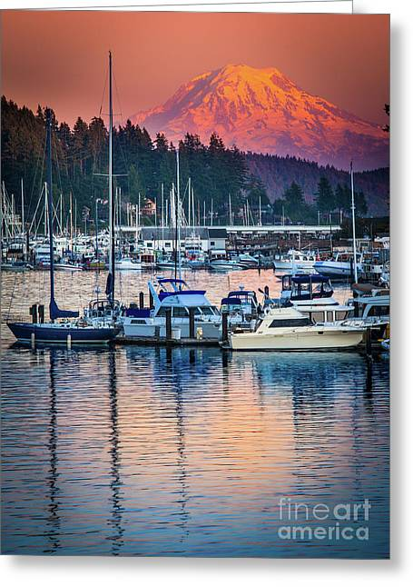 Evening In Gig Harbor Greeting Card